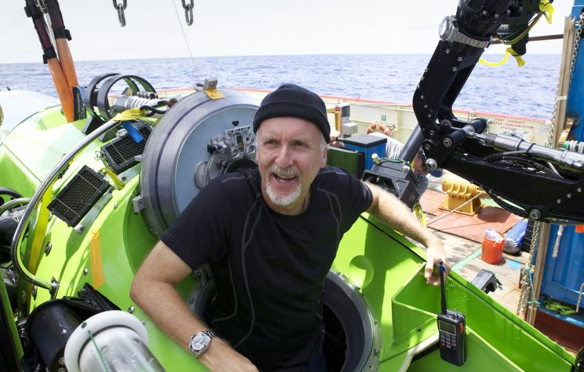 James Cameron survived his trip, too, but in the comfort of a submersible.