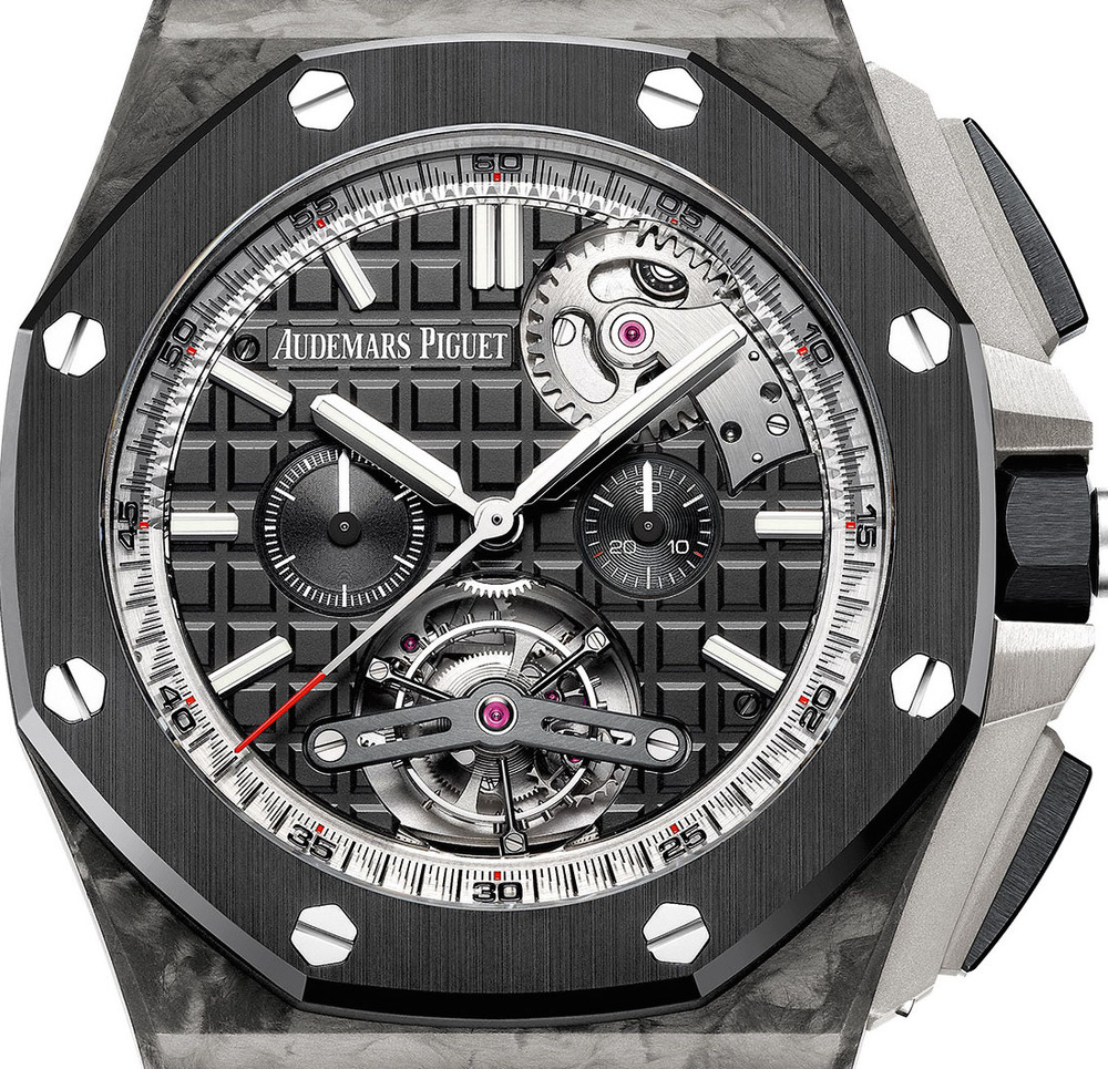 Audemars piguet royal oak offshore tourbillon chronograph released with self winding movement for Ap royal oak offshore chronograph
