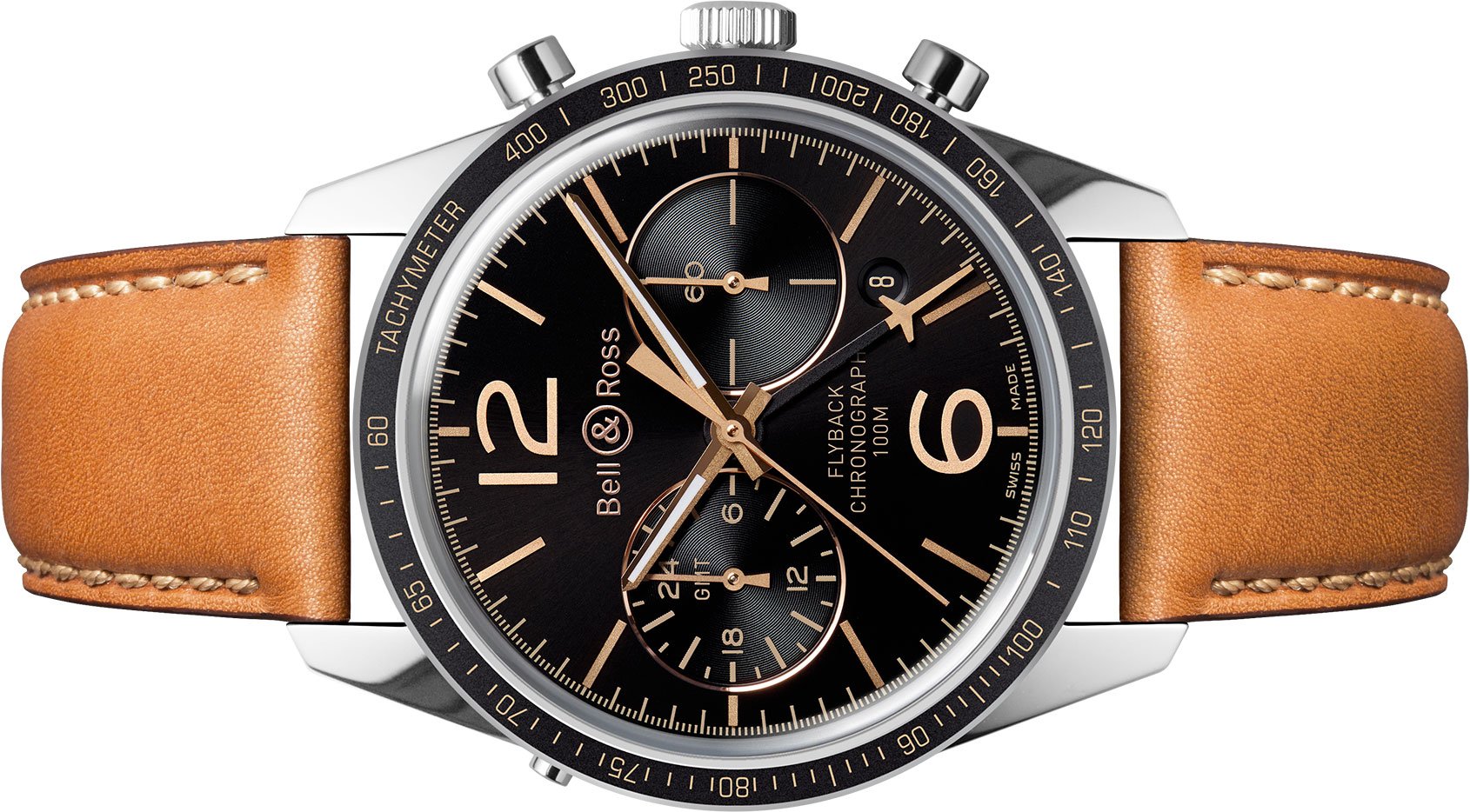 news bell ross br 126 sport heritage gmt flyback the
