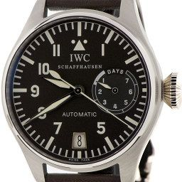 "The Classic – IWC – Big Pilot 5002 The original and the best Big Pilot with nuances like a bronze date aperture at 6 o'clock, the numeral '9', and slimmer hands than the current version. You don't need to be a complete watch geek to pick up that there is something of a cult following for the fabled IWC Big Pilot watch, which always leaves an impression thanks to its size and simplicity. When you discover that its more famous devotees include John Malkovich, Bradley Cooper, Orlando Bloom and Jude Law the myth only gets spicier.  ""It's a fantastic everyday watch and it has serious wrist presence,"" says Chylinski. ""The huge jewel-shaped crown will start conversations and the curved lugs make it far more comfortable on the wrist than it looks. It suits a business shirt as well as it does a leather jacket."""