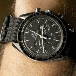 The Classic – Omega – Speedmaster Professional (on NATO) The 'Moonwatch' is the ultimate functional chronograph, with a supremely legible matte dial and a chameleonic character which completely changes on bracelet, NATO or leather strap.