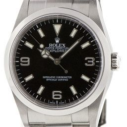 """The Classic – Rolex Explorer 36mm While it will feel slight next to most modern watches, the smaller version of the Explorer is in fact truer to the model that conquered Mt Everest, its most famous feat. """"Ironically, it's one of the least 'Rolex' looking Rolexes on the market, and yet it fits the bill. """"It's simple, it's a wristwatch from the golden '50s era, it has a matte grey dial, luminous numerals and indices and a history of adventure,"""" Chylinski enthuses. The original Explorer was 36mm but the current has grown in proportion to 39mm. """"It's a ripper looking watch. It'll pass as a casual watch with a hoodie at South Melbourne market or slip under the cuff of a shirt at a formal occasion. It's one of the most adaptable watches you can get and is dressier than a non-date Submariner, which is why it ousted it from this spot."""""""