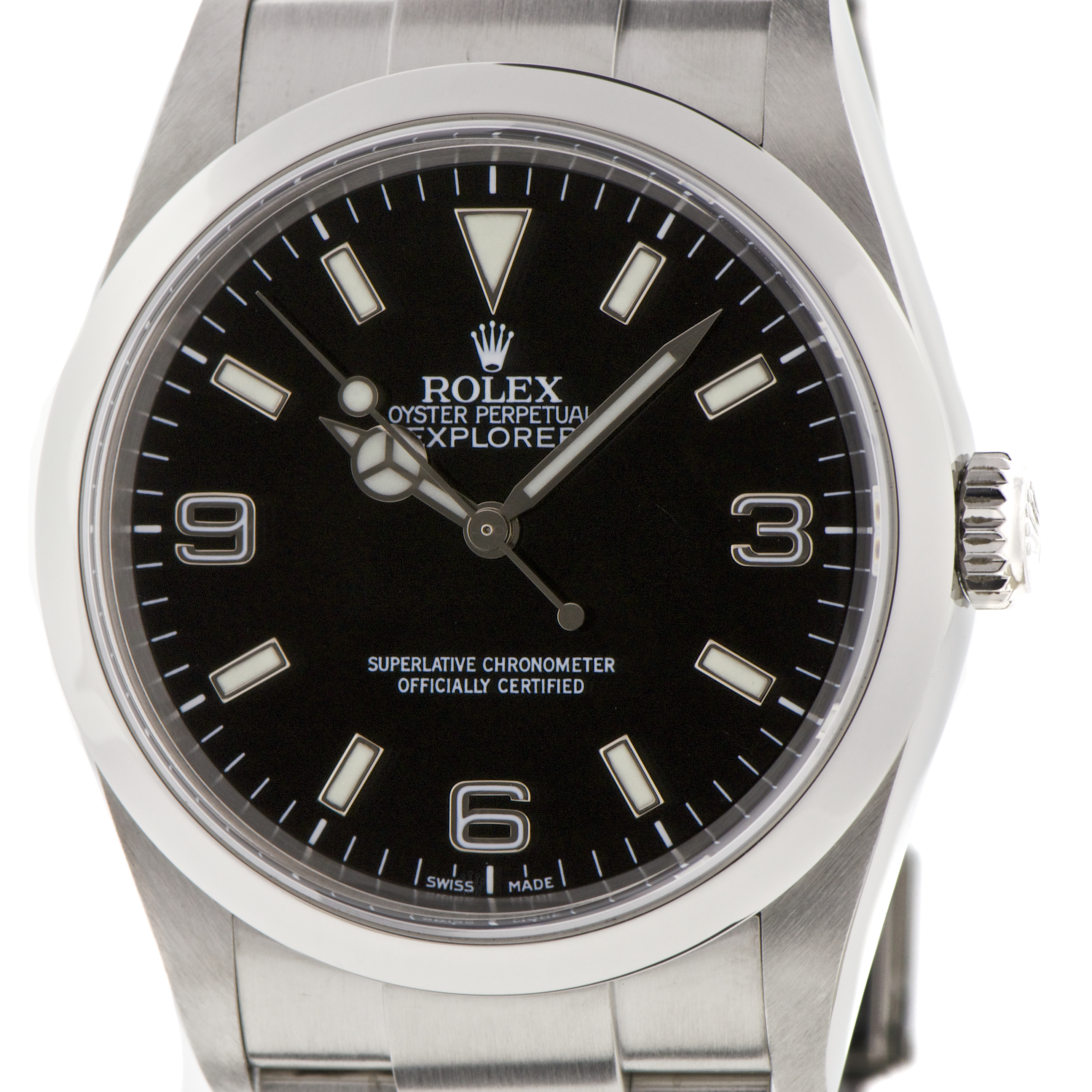 watches co next fine second rolex uk ii london explorer watch collectors stainless watchcollectors hand steel product