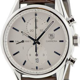 """The Classic – TAG Heuer Carrera (version two) The first production model of TAG Heuer's heavily marketed 1887 movement, the second version of the Carrera was only released in select countries and was soon replaced by version three. Along with perennial favourites like the Rolex Daytona, the Carrera, first released by Heuer in 1963, is one of the classic chronographs. """"The difference between the second and third version of the Carrera is that the earlier version, which was the first production of TAG Heuer's 1887 movement, doesn't have the tachymetre or the anabolic look of the chrome edged subdials,"""" Chylinski says. """"It's clean, it's less busy and it wears really well on bracelet and leather strap."""" """"The second version was only made for a short time and only sold in selected countries, so they can be hard to find,"""" says the founder of leading TAG Heuer fan site Calibre11.com """"But if you love the look of the Carrera 1887 and want something a little different, it's well worth trying to hunt one down."""