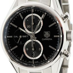 """The Latest – TAG Heuer Carrera (version three) The third version of the Carrera adds a tachymetre and a slightly shinier more blinged up look via chrome accented subdials. Along with perennial favourites like the Rolex Daytona, the Carrera, first released by Heuer in 1963, is one of the classic chronographs. """"The difference between the second and third version of the Carrera is that the earlier version, which was the first production of TAG Heuer's 1887 movement, doesn't have the tachymetre or the anabolic look of the chrome edged subdials,"""" Chylinski says. """"It's clean, it's less busy and it wears really well on bracelet and leather strap."""" """"The second version was only made for a short time and only sold in selected countries, so they can be hard to find,"""" says the founder of leading TAG Heuer fan site Calibre11.com """"But if you love the look of the Carrera 1887 and want something a little different, it's well worth trying to hunt one down."""