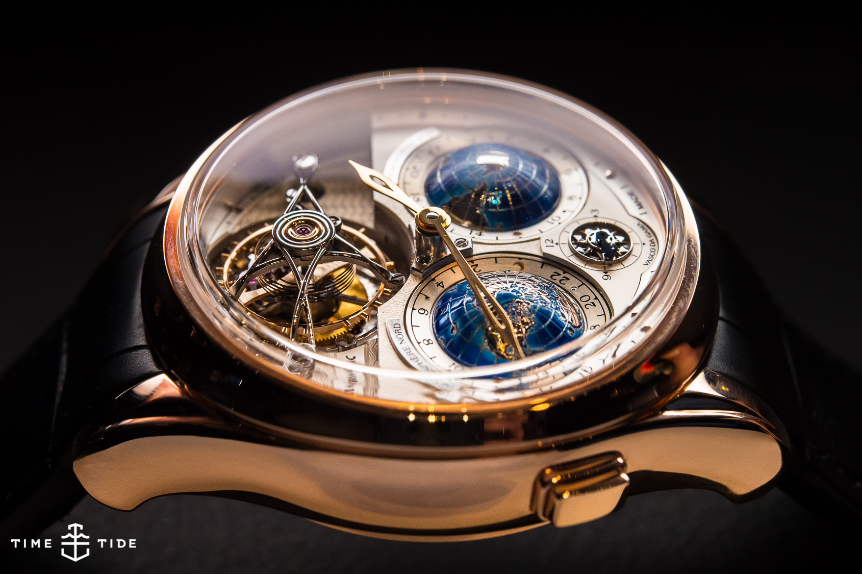 Montblanc tourbillon cylindrical geosphere vasco da gama hands on review for Vasco watches
