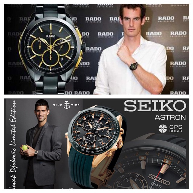 Here we go again - Men's Final of the it's Rado vs Seiko for the fourth time in a Slam, with the spoils split at 2-all, could definitely go either way. So who's going to take the ? Our secret hope is just that Kim Sears drops another couple of F- ️