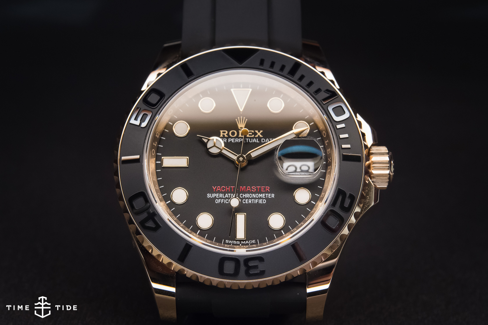 Rolex Oyster Perpetual Yacht Master 116655 In Everose With