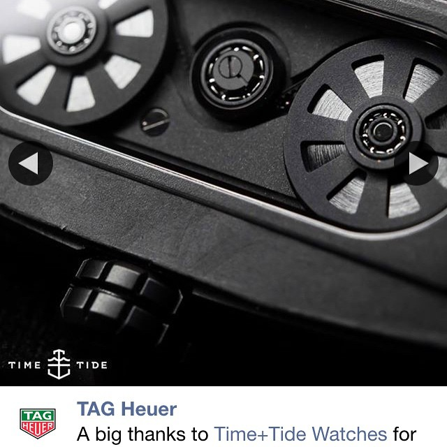 Great way to wake up, seeing this black beast / beauty on @tagheuer in all its glory. Step aside Ulysses Nardin this would be our Nights Watch. ️