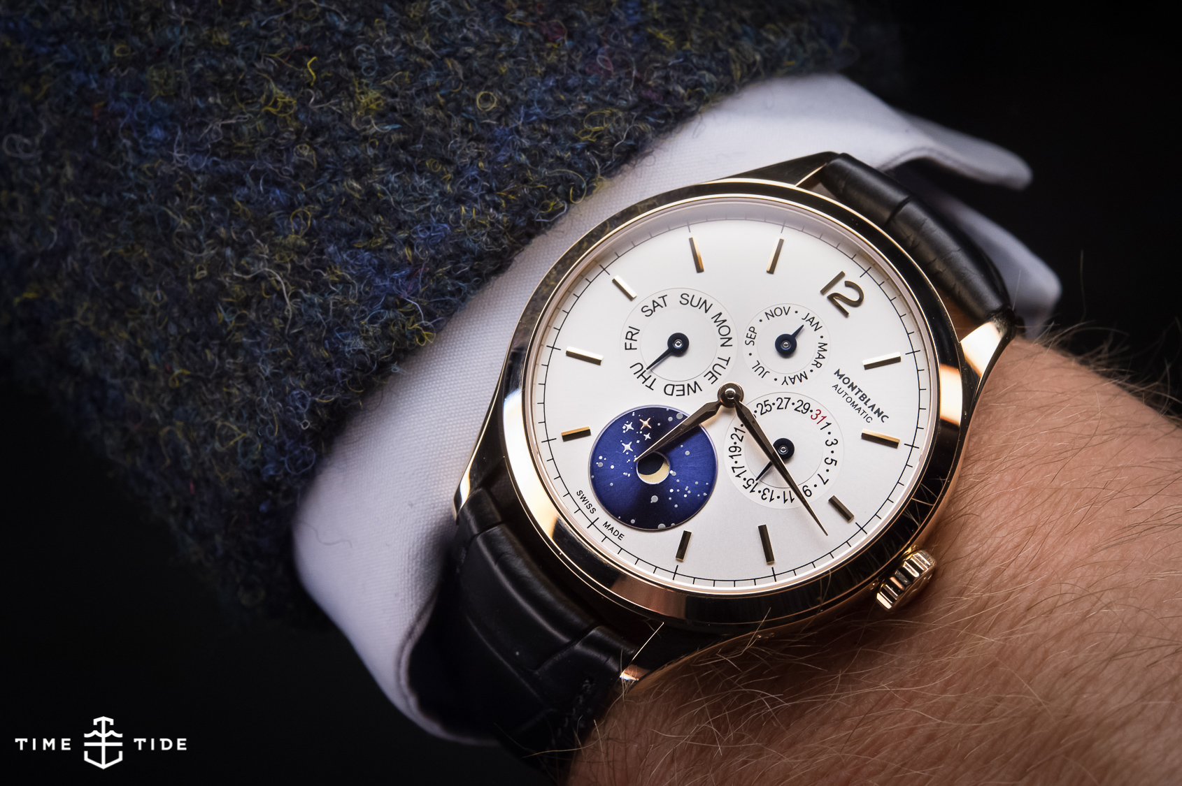 Montblanc heritage chronometrie annual calendar vasco da gama hands on review for Vasco watches