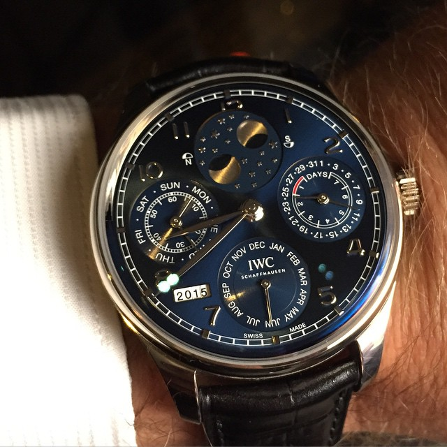 instagram holding mark bouris 39 iwc portugieser perpetual calendar up to the light after our. Black Bedroom Furniture Sets. Home Design Ideas