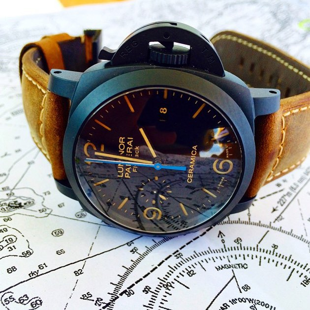 @panerai Luminor Flyback Chrono Ceramica by @watchtimemagazine ️