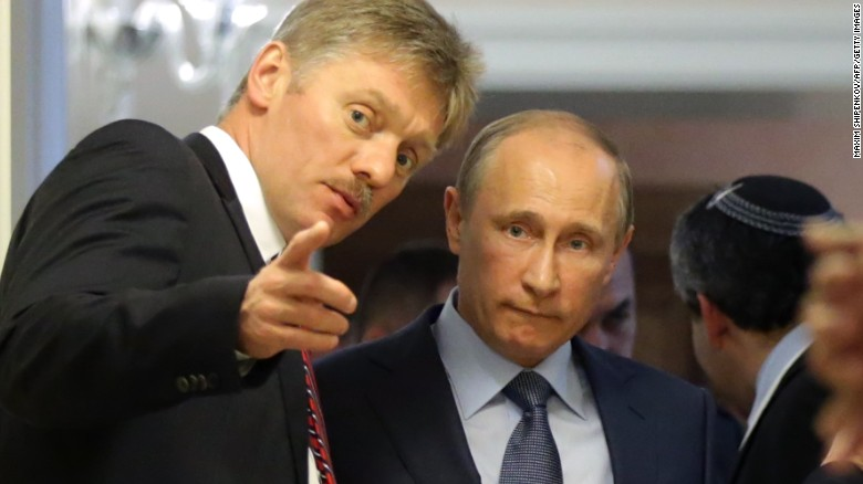 Putin and Dmitry Peskov