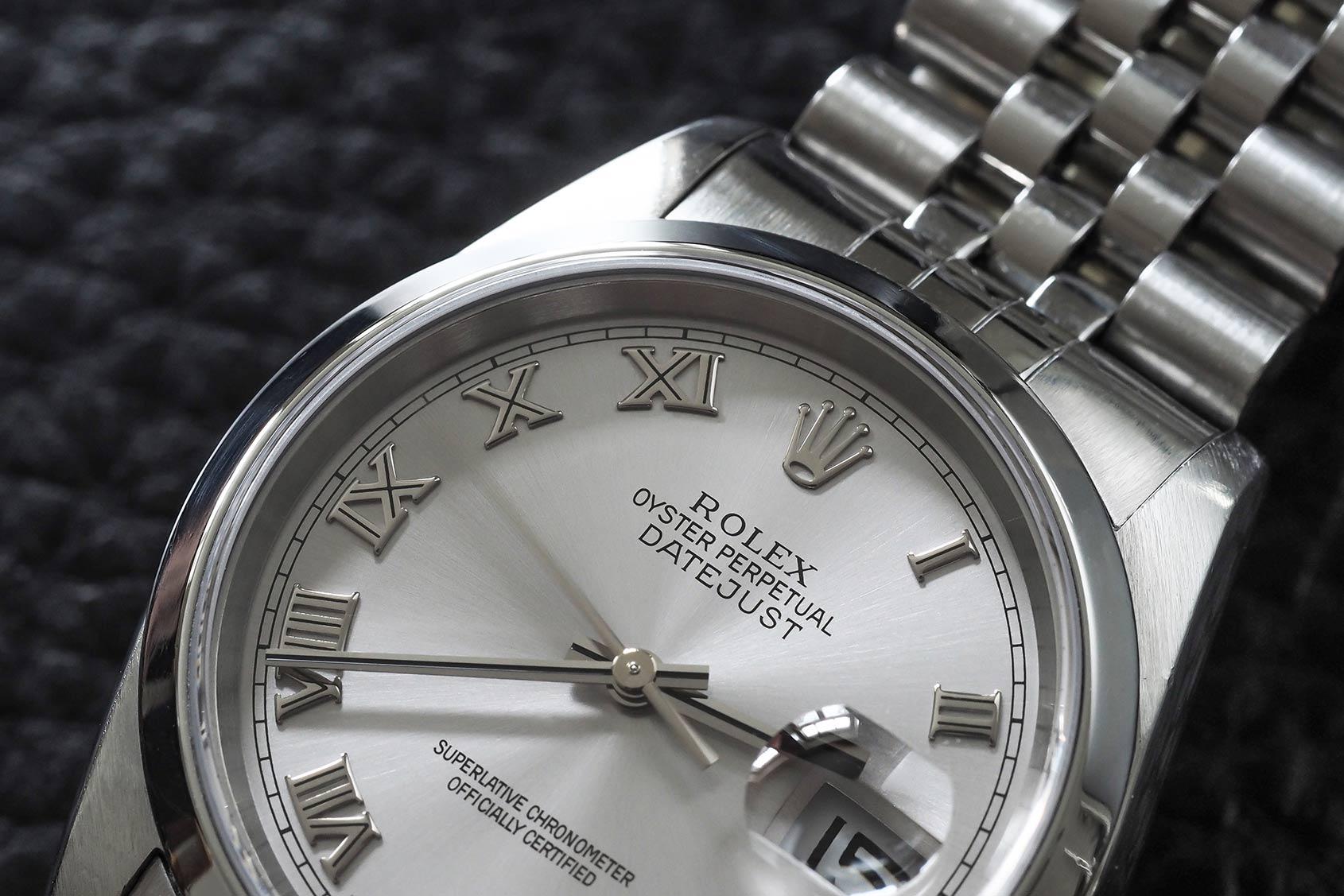 0124c9b1ede Replica Rolex Datejust 116200 White Roman Dial Review From  http   www.bestpopwatch