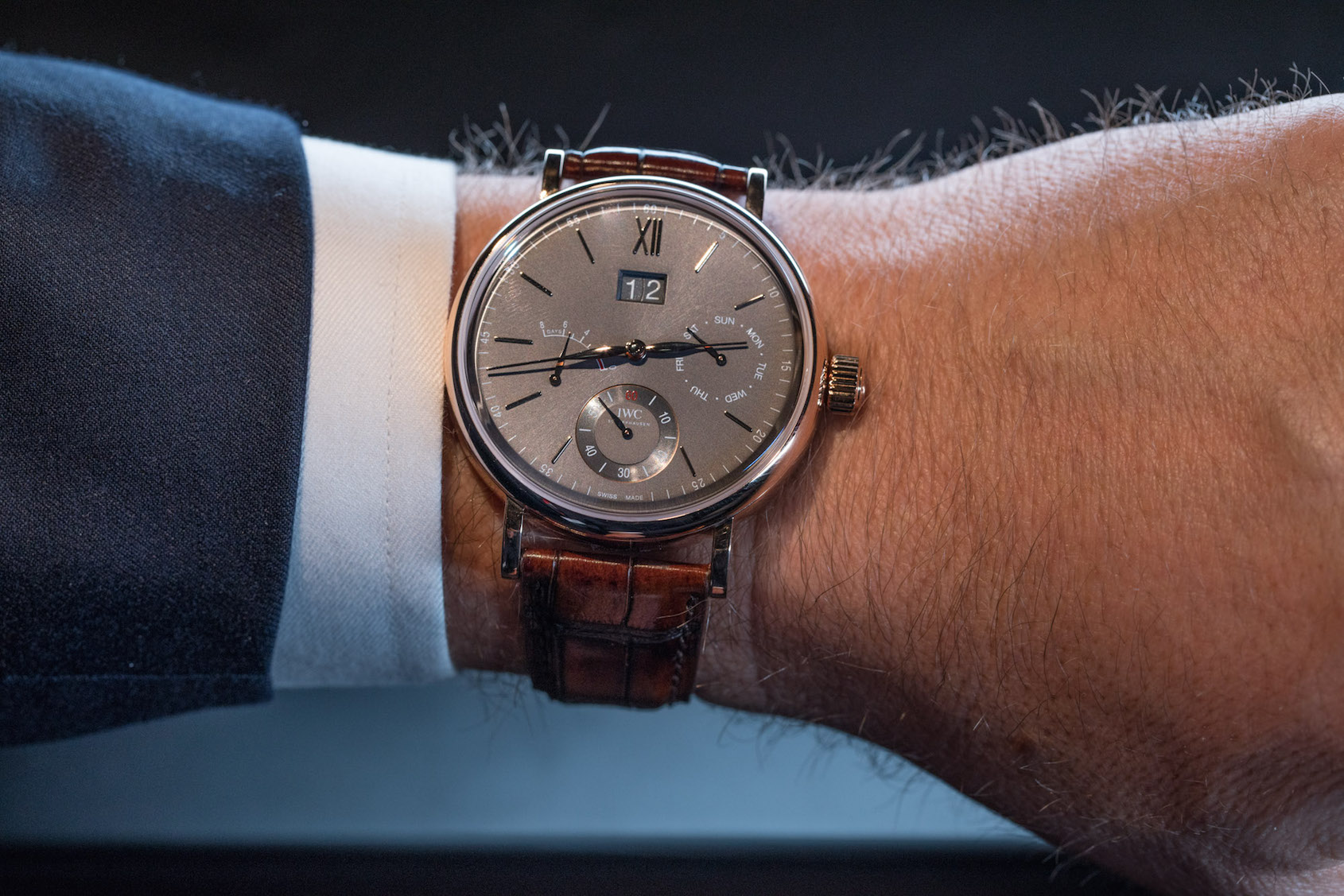 dddd838c14cac IWC Portofino Hand-Wound Day   Date – Hands-on Review