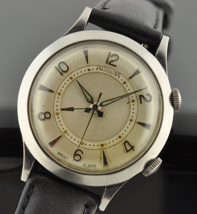 A 33.5mm LeCoultre alarm watch.