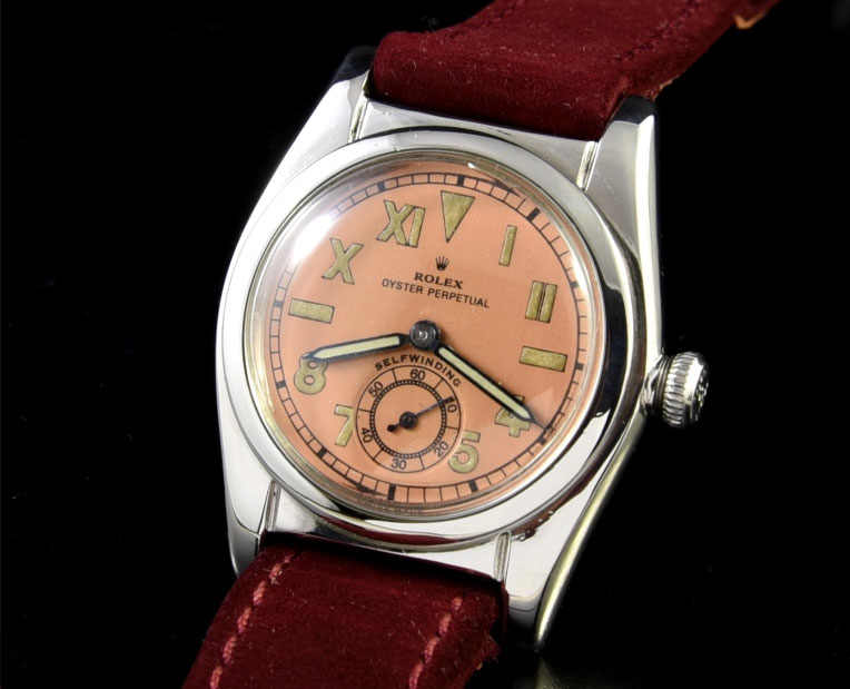 A 32mm Rolex Bubbleback from 1946.