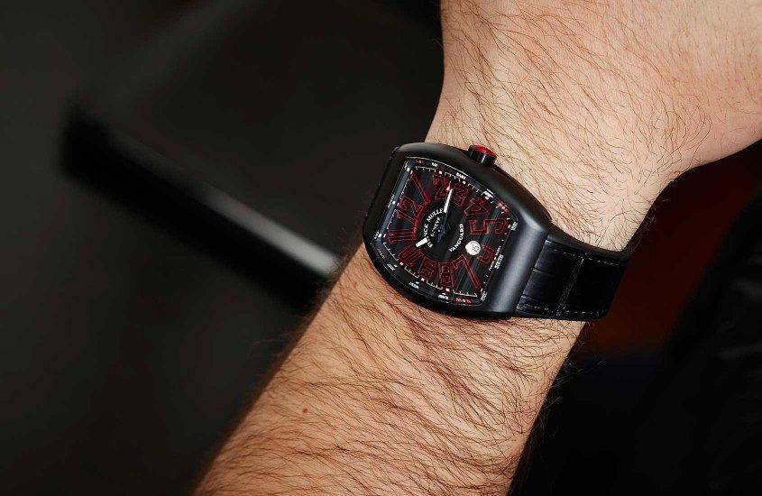 Black Franck Muller Vanguard copy watches