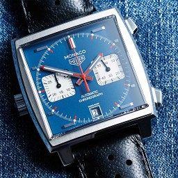 TAG Heuer Monaco blue dial