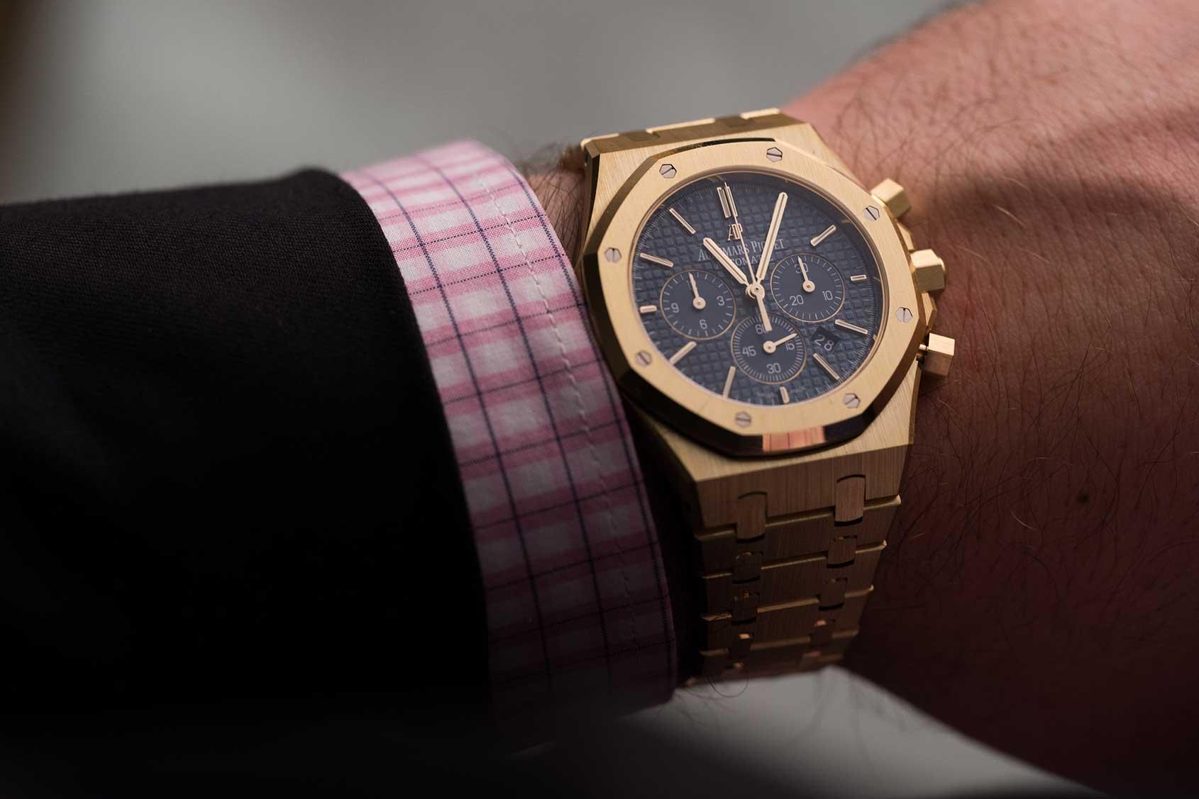 a0fd092a5dbc Audemars Piguet Royal Oak Chronograph in Yellow Gold – Hands-on Review