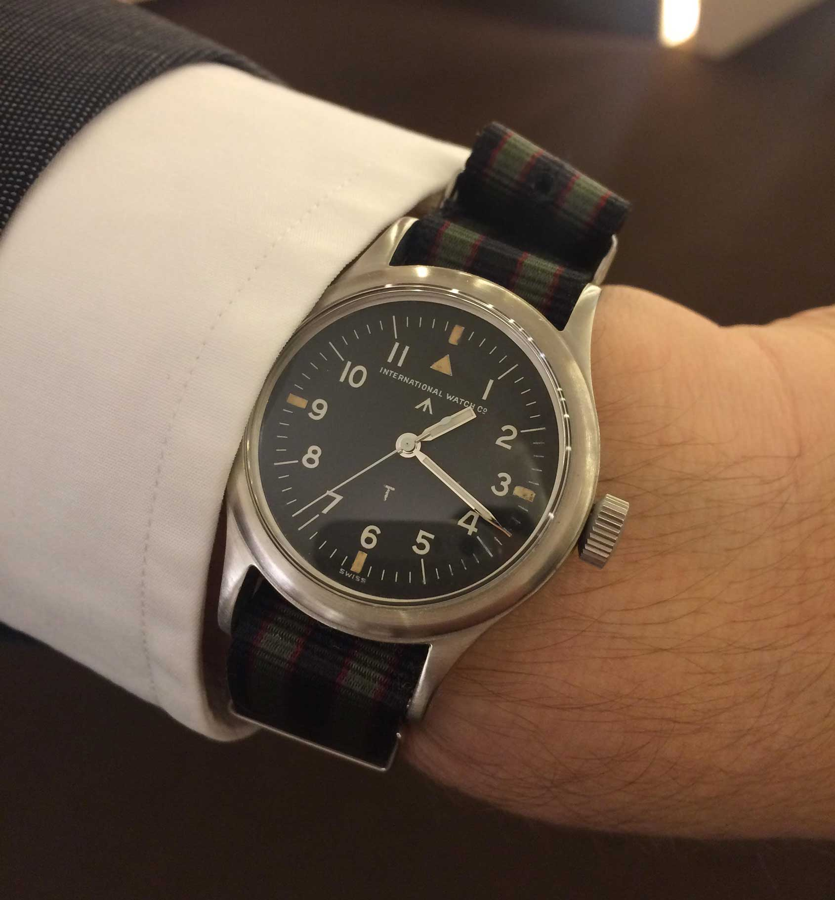 Watch marks on wrist - In The Subsequent 68 Years And Five Design Revisions Iwc Didn T Make Marks Xiii Or Xiv As These Numbers Are Considered Unlucky In Some Cultures The Watch
