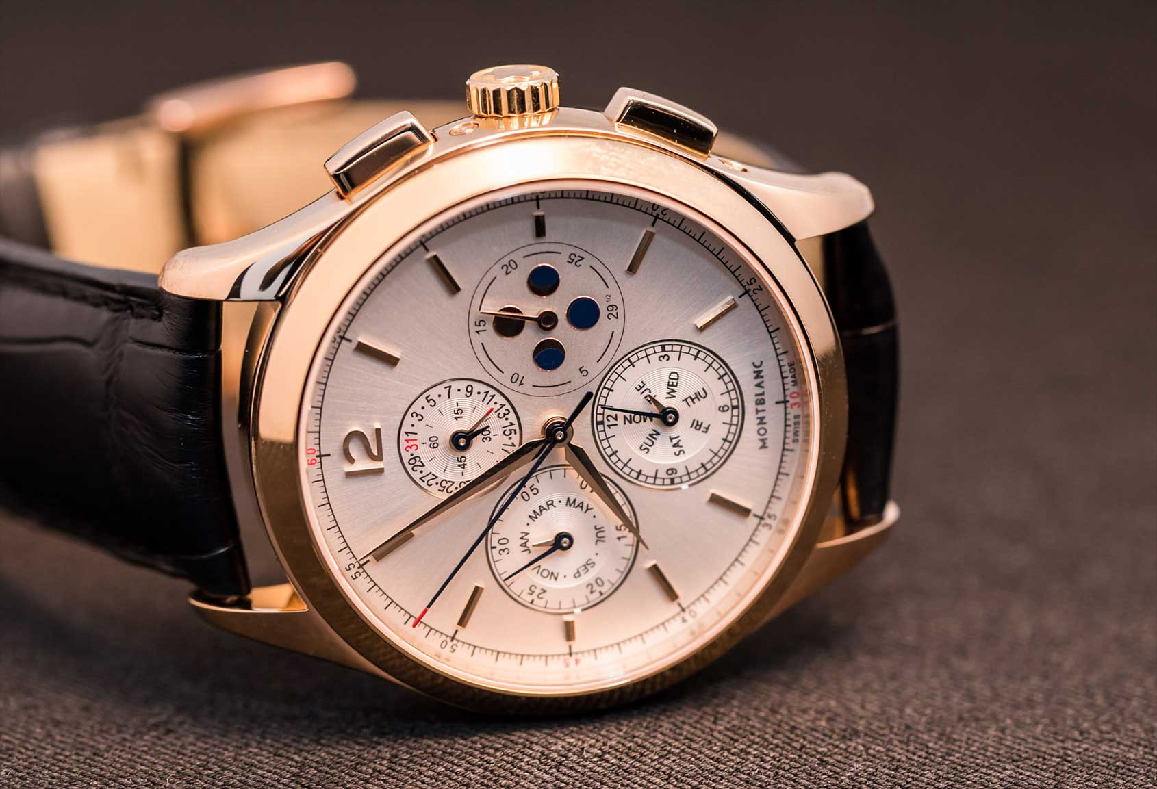 Montblanc heritage chronometrie chronograph annual calendar video review for Calendar watches