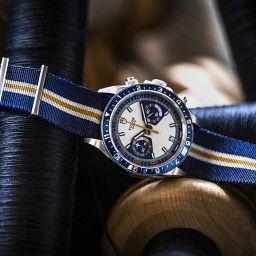 18.TUDOR Fabric Straps_Heritage Chrono Blue