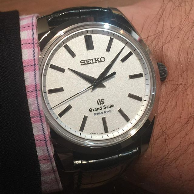 This is the first Grand Seiko made by Seiko's Micro Artists Studio - platinum case, 'diamond dust' dial and a brand new manually wound 8 day power reserve movement with three barrels. An amazingly beautiful watch. RRP 60k CHF