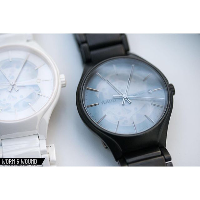 The @wornandwound guys are tripping over the translucent .6mm mother of pearl wafer dial of the new @rado True Thinline Series. Zach writes