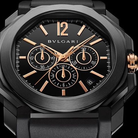 Black to the future, errrrywhere, from the @bulgariofficial Octonero Chrono to the @hublot all black and the @Tudor BB Dark. Could someone turn on the lights? ️
