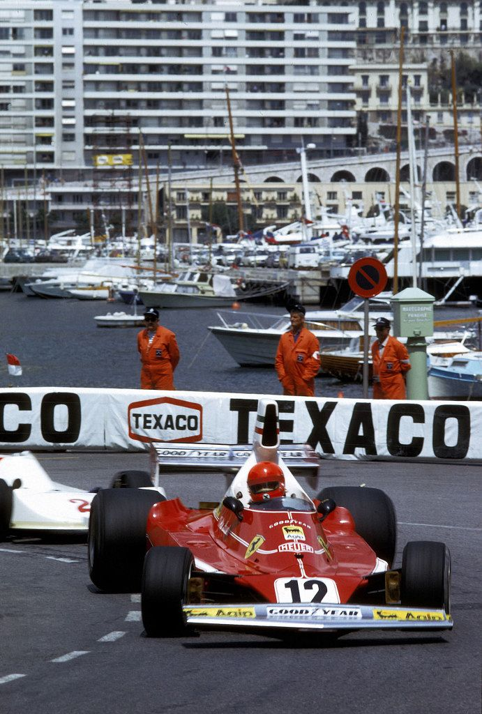 AUTO - F1 1975 - SPAIN - MONJUICH - PHOTO : DPPI NIKI LAUDA / FERRARI 312T - ACTION