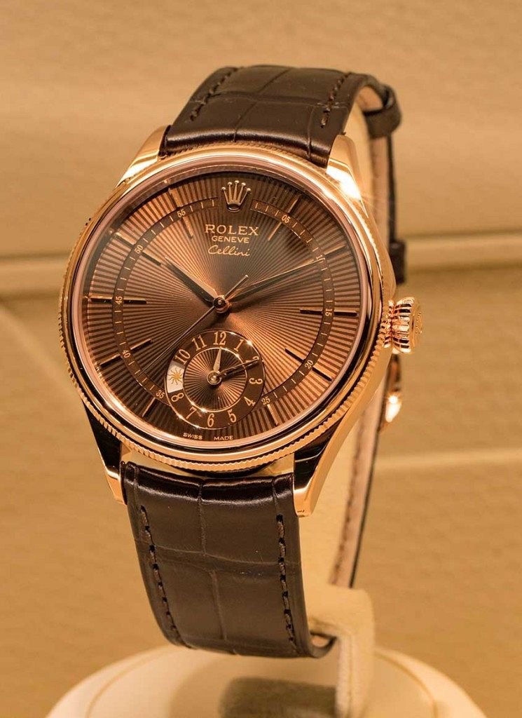 Rolex-Cellini-brown-dial