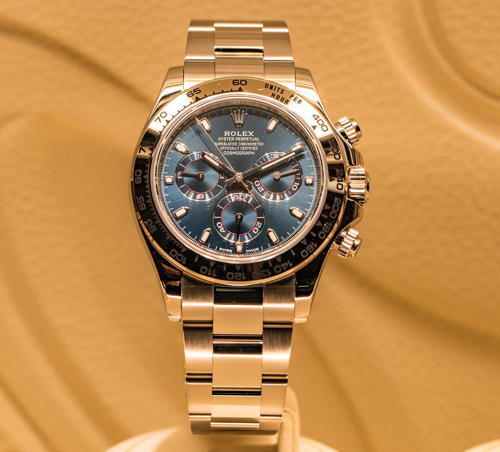 Rolex Daytona White Gold Blue Dial One More Soul