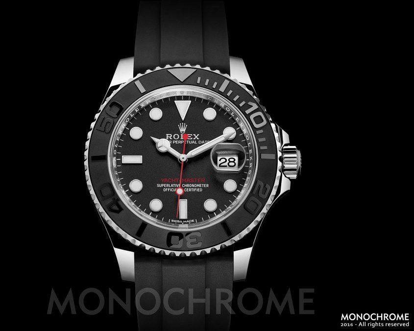 Rolex-Yacht-Master-40-stainless-steel-ceramic-rubber-Rolex-Baselworld-2016-Rolex-Predictions-2016-2-Monochrome