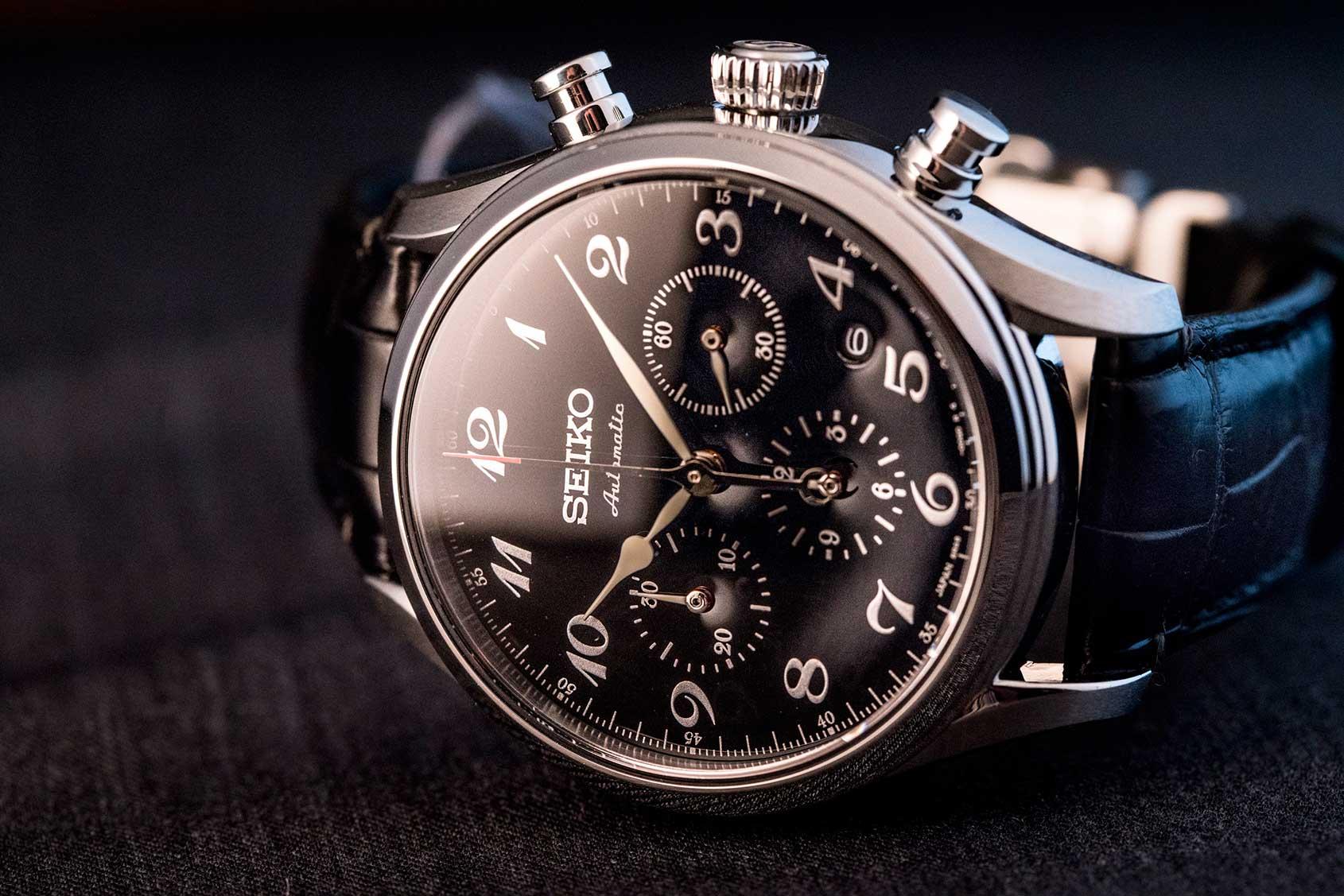 Hands on the seiko presage chronograph 60th anniversary for Macchina da cucire seiko special