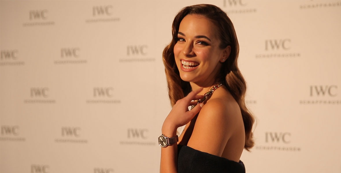 VIDEO: Our guest host, Miss Universe Australia admits she has a thing for pilots at the IWC 2016 Collection launch in Sydney