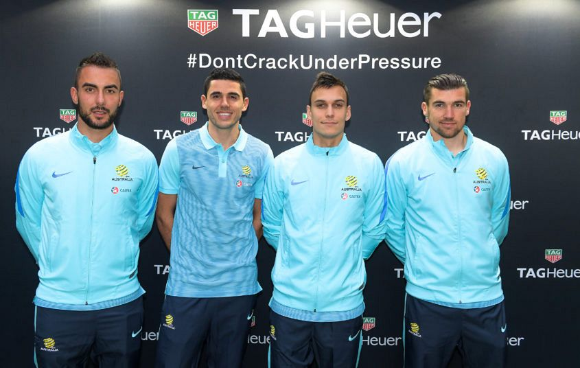 20160531 - TAG Heuer Don't Crack Under Pressure Speed and Accuracy Challenge - Mark Birighitti, Mat Ryan, Tom Rogic, Trent Sainsbury- photo Ken Buttti(0047)