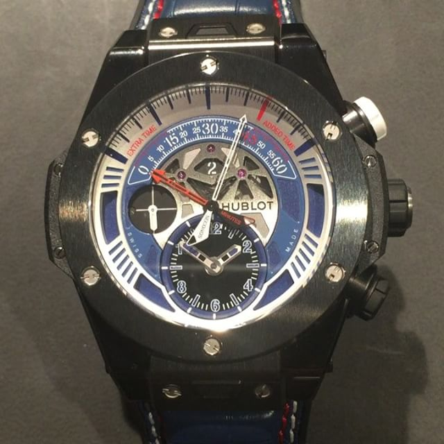 Wait for it....@hublot's UEFA Big Bang Unico Chronograph in action ️