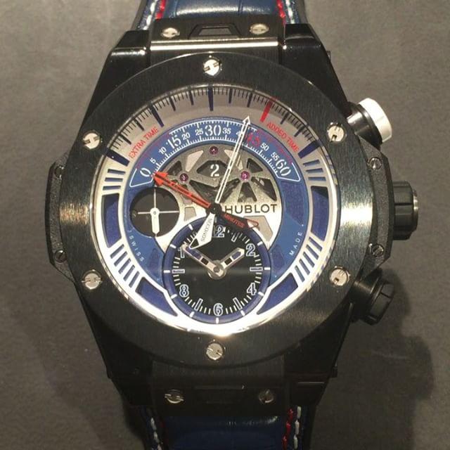 Wait for it....@hublot's UEFA Big Bang Unico Chronograph in action ️