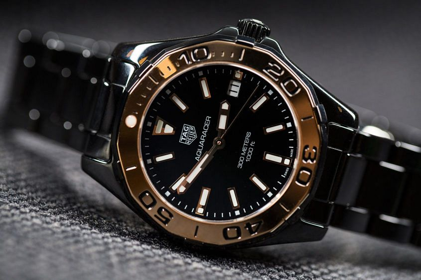 TAG Heuer Aquaracer Lady Full Ceramic in black and rose gold