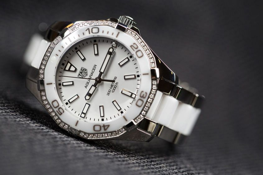 TAG Heuer Aquaracer Lady ceramic and steel with diamonds