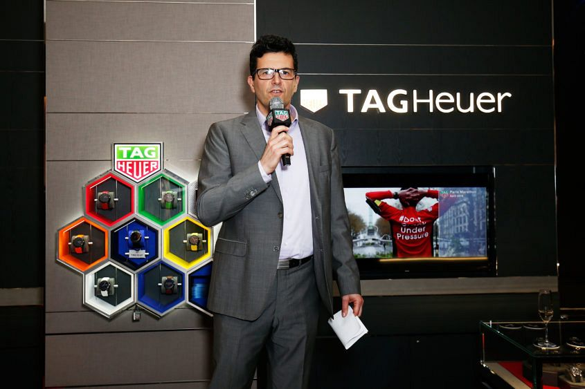 arrives at the TAG Heuer Sydney Flagship Re-Opening at Pitt Street on August 10, 2016 in Sydney, Australia.