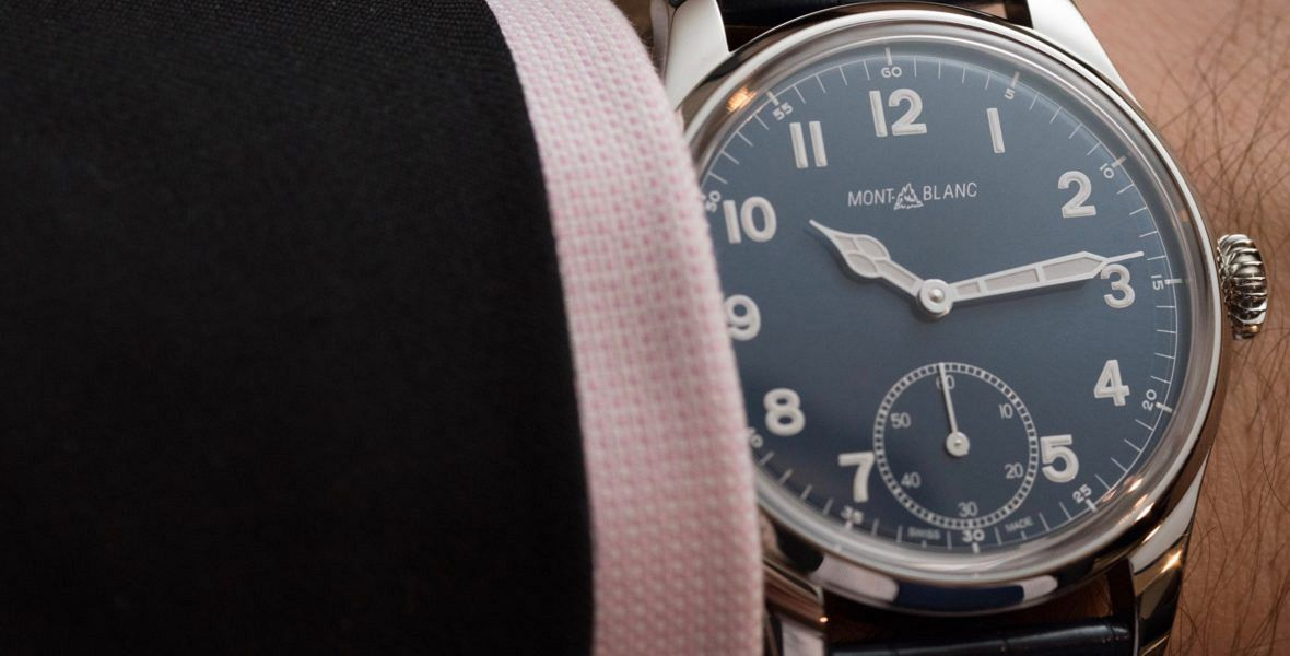 GONE IN 60 SECONDS: Into the blue with the Montblanc 1858 Manual Small Second video review