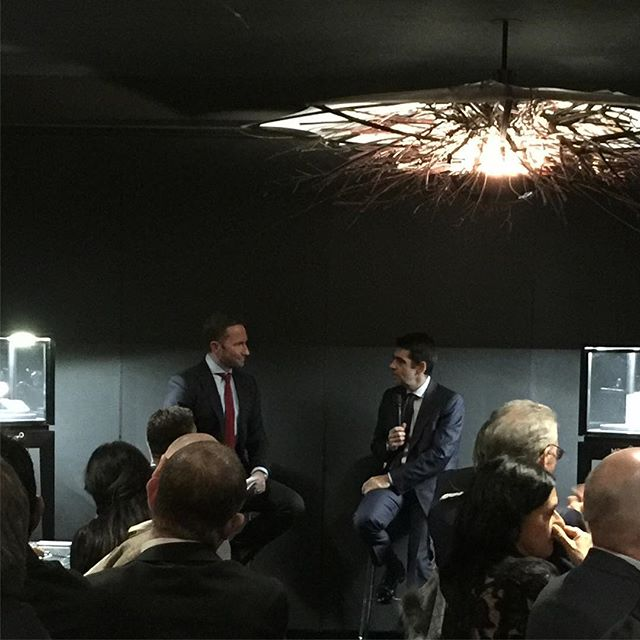 High above Melbourne, Andrew speaks to @montblanc CEO Jerome Lambert about passion, drive and fine watchmaking. Mr Lambert pinpoints the pulsograph and Heritage Chronometrie collection as key points in Montblanc's watchmaking ️