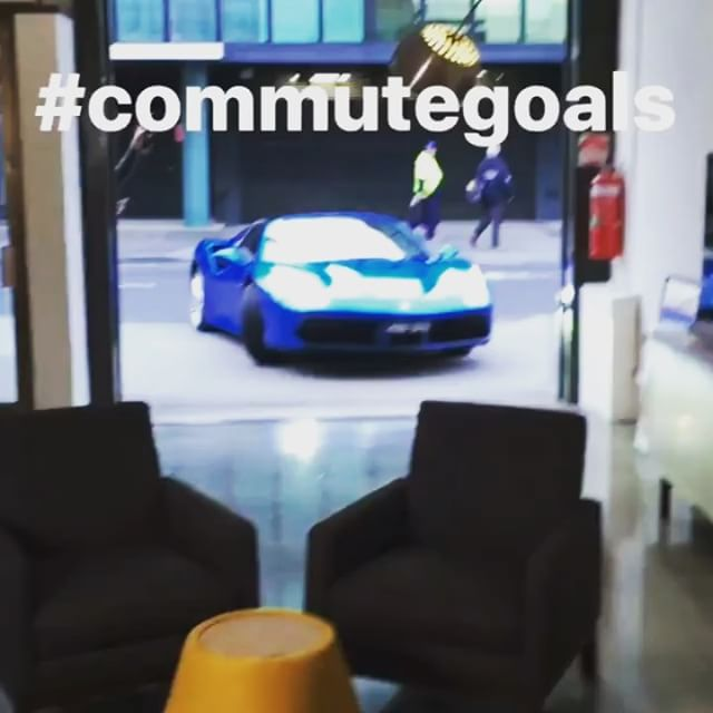 The @ferrari 488 Spider dropped into the office this morning ️