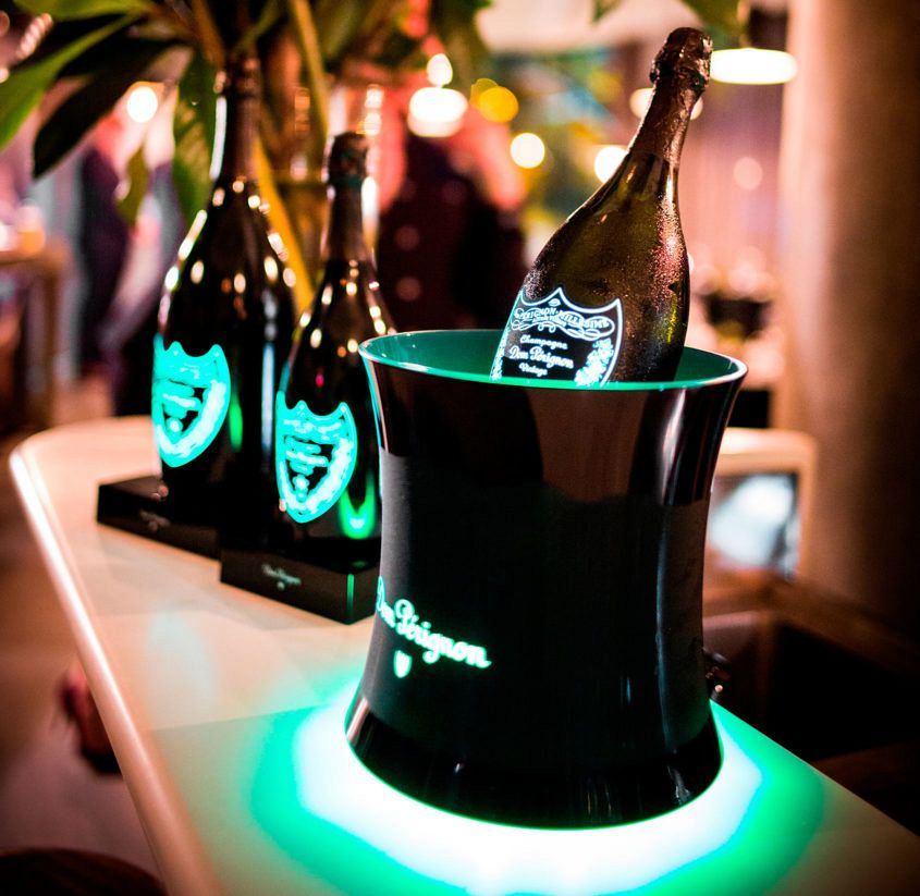 We weren't kidding about the glow in the dark Champagne.