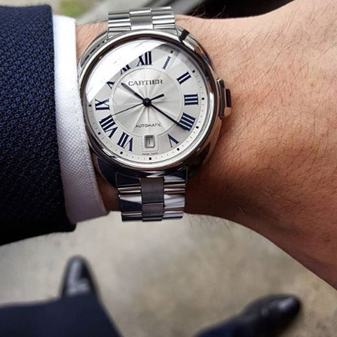 @andygreenlive changing gears from diver to debonair with the @cartier Cle de Cartier. Solid. ️