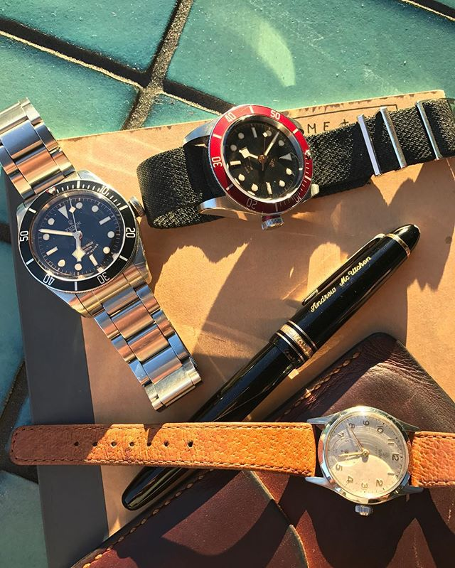 Tudor hangs in the sun, two baes and a grandfather watch ️