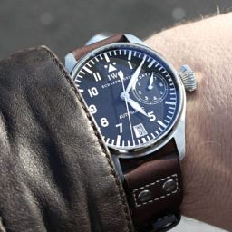 The original and the best IWC Big Pilot (ref. 5002) with nuances like the metal trim around the date aperture at six o'clock, the numeral '9', and slimmer hands than the current version. Image: Michael Chylinski.