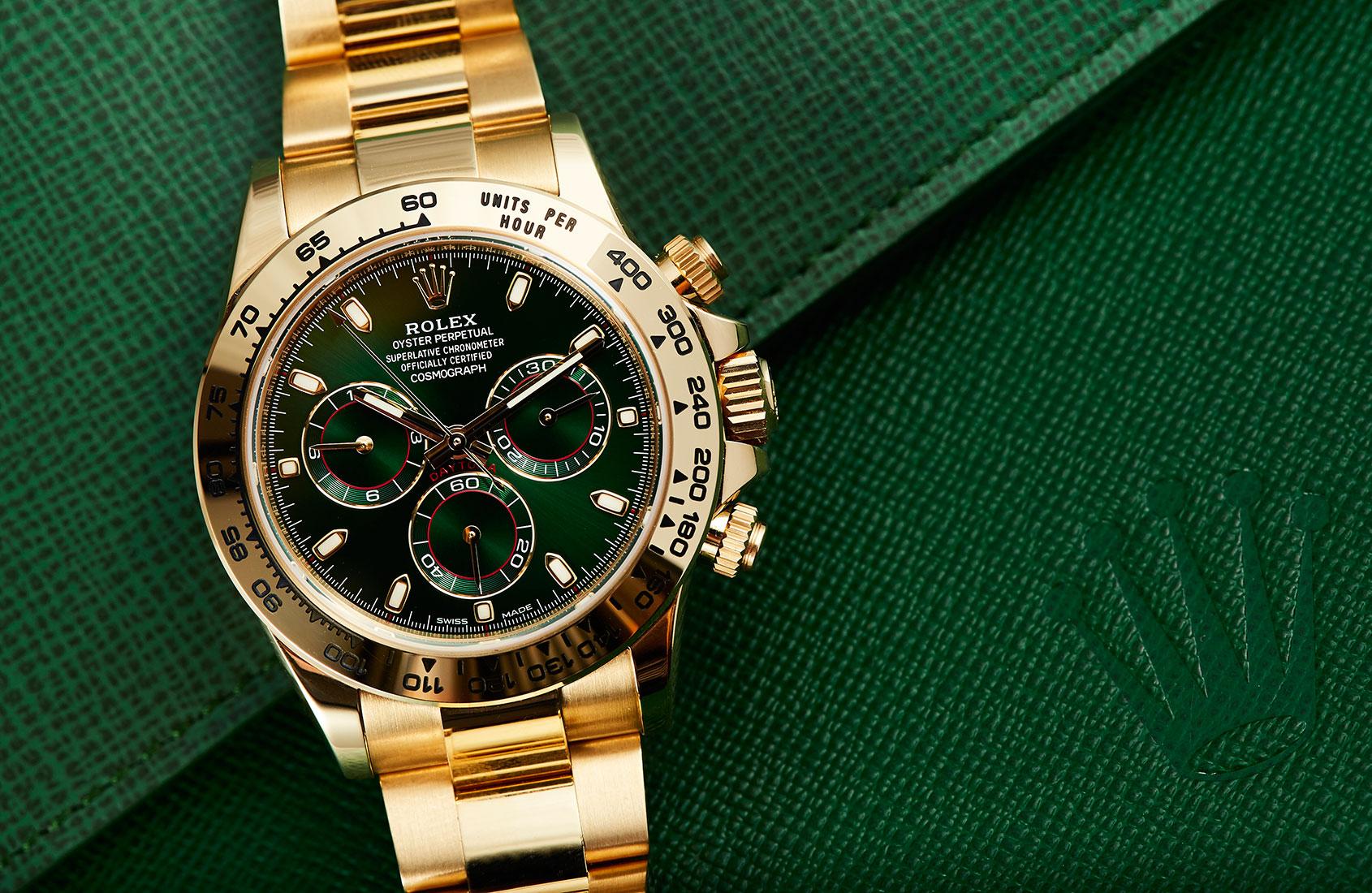 rolex-daytona-yellow-gold-green-dial-116508-1